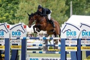 Schnelle Runde und der Sieg für Douglas Lindelöw und Zacramento in der Qualifikation zur DKB-Riders Tour in Wiesbaden. (Foto: Stefan Lafrentz)