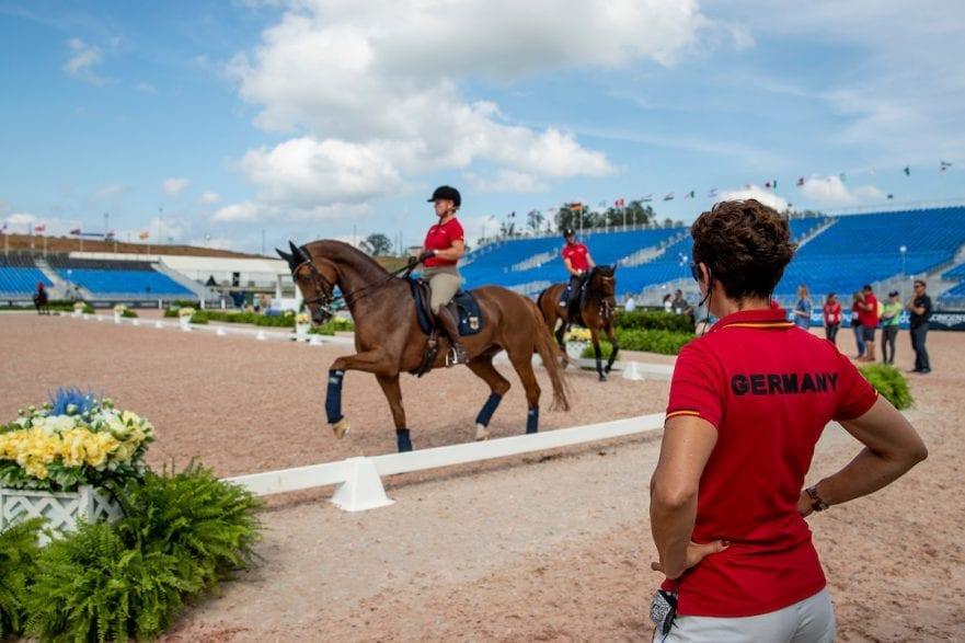 Die Bundestrainerin in der Dressur, Monica Theodorescu, ist beim Bundestrainertag 2019 dabei. Hier in Tryon - FEI World Equestrian Games™ 2018/ Dressurtraining. Foto © www.sportfotos-lafrentz.de/Stefan Lafrentz