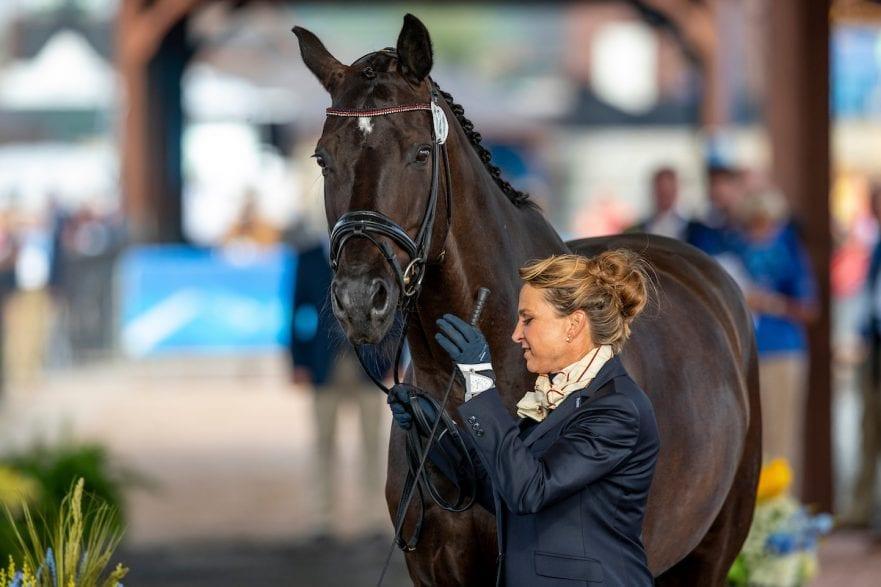 SCHNEIDER Dorothee (GER), Sammy Davis Jr. Tryon - FEI World Equestrian Games™ 2018 Vet-Check für die Dressurpferde 11. September 2018 © www.sportfotos-lafrentz.de/Stefan Lafrentz