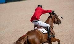 Symbolbild Springen (Verlooy Jos, BEL, Igor Tryon - FEI World Equestrian Games™ 2018 Springen Zeitspringprüfung Teamwertung Einzelwertung 1 Runde 19. September 2018 © www.sportfotos-lafrentz.de/Dirk Caremans)