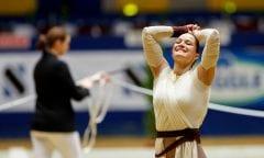 BOE Kristina (GER), Don de la Mar Dortmund - Signal Iduna Cup 2018 FEI World Cup Vaulting Finale Female Voltigieren Finale Frauen 2.Umlauf www.sportfotos-lafrentz.de/Stefan Lafrentz Datum 24.03.18