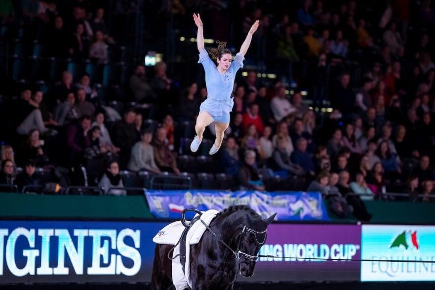 DERKS Janika (GER), Dark Beluga Leipzig - Partner Pferd 2019 FEI Vaulting World Cup 2. Umlauf Damen / Female 19. Januar 2019 © www.sportfotos-lafrentz.de/Stefan Lafrentz