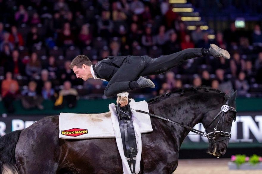 HEILAND Jannik (GER), Dark Beluga Leipzig - Partner Pferd 2019 FEI Vaulting World Cup Herren / Male 18. Januar 2019 © www.sportfotos-lafrentz.de/Stefan Lafrentz