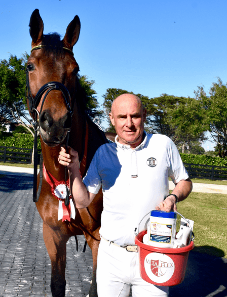 Michael Klimke of Germany and his Royal Dancer were the winners or the Vita Flex Victory Pass Award at the AGDF Dressage 1 in Wellington, FL.