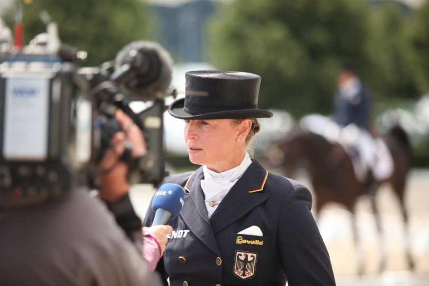 Dressurreiterin Isabell Werth im Gespräch mit dem WDR (Foto: CHIO Aachen/ Michael Strauch)