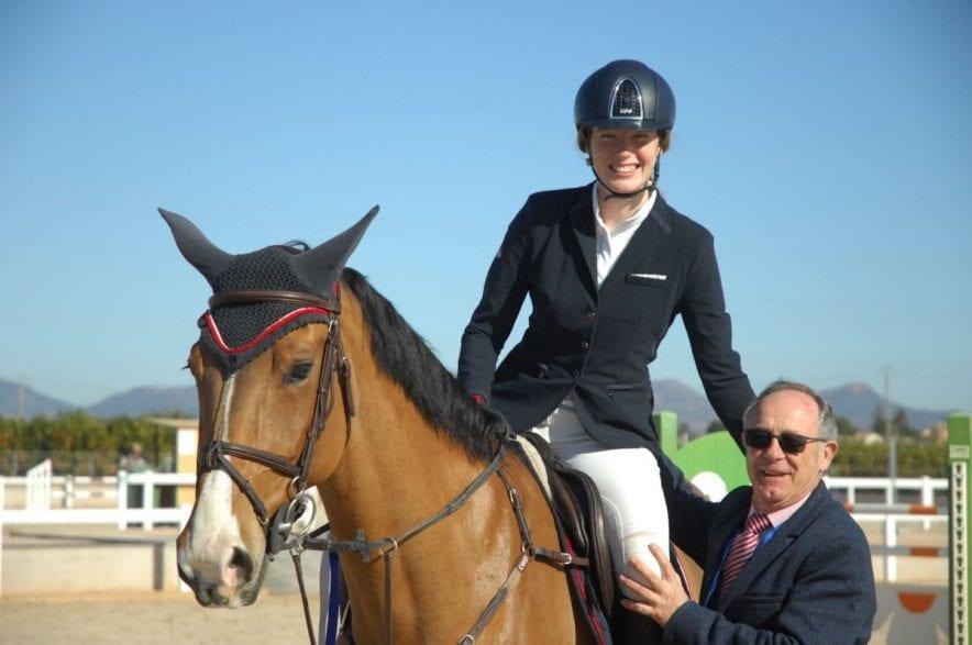 Tania Moody, Britin mit spanischem Wohnsitz gewann mit Reine du Very den Auftakt der Master-Tour. (Foto: J. Billmann)