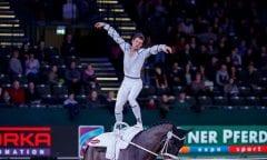 HEILAND Jannik (GER), Highländer Leipzig - Partner Pferd 2018 FEI World Cup Vaulting Einzel Herren 2. Runde © www.sportfotos-lafrentz.de/Stefan Lafrentz