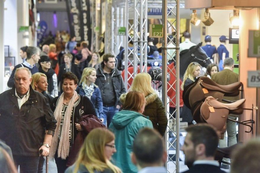 Impression von der spoga horse Frühjahr 2019: Hallendurchblick Halle 8 (Pressefoto)