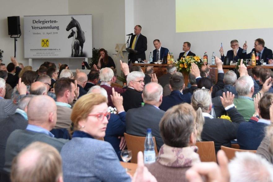 Eindruck aus der Versammlung des Hannoveraner Verbandes. (Foto: Hannoveraner Verband)