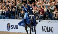 GUERDAT Steve (SUI), Alamo Göteborg - Gothenburg Horse Show 2019  Longines FEI World Cup™ Jumping Final III - Prix giving ceremony Int. jumping competition over two rounds not against the clock with jump-off in case of point egality (1.50 - 1.60 m) Longines FEI Jumping World Cup™ Final and FEI Dressage World Cup™ Final 07. April 2019 © www.sportfotos-lafrentz.de/Stefan Lafrentz