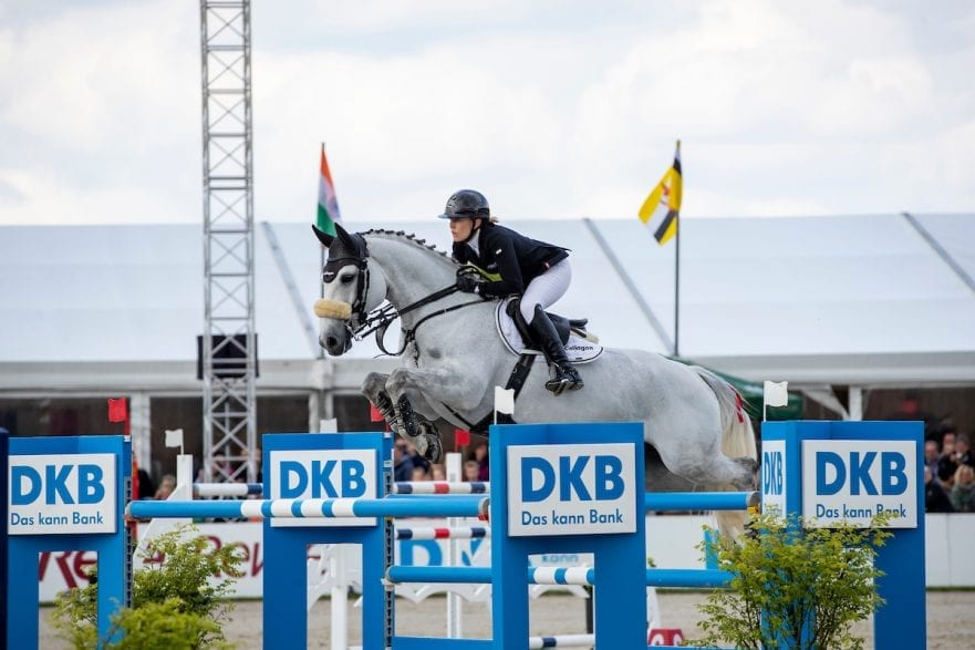MEYER-ZIMMERMANN Janne Friederike (GER), Buettner's Minimax Hagen - Horses and Dreams 2019  Großer Preis der Deutschen Kreditbank AG- BEMER RIDERS TOUR - Wertungsprüfung - CSI4* Grand Prix Two Rounds 28. April 2019 © www.sportfotos-lafrentz.de/Stefan Lafrentz