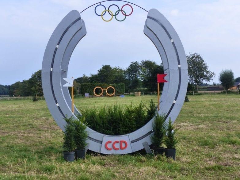Hindernis beim Deutsche Championat der Vielseitigkeits-Auszubildenden