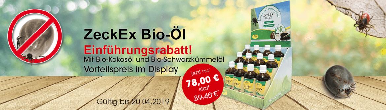 Neues Produkt von cdVet: ZeckEx Bio-Öl!