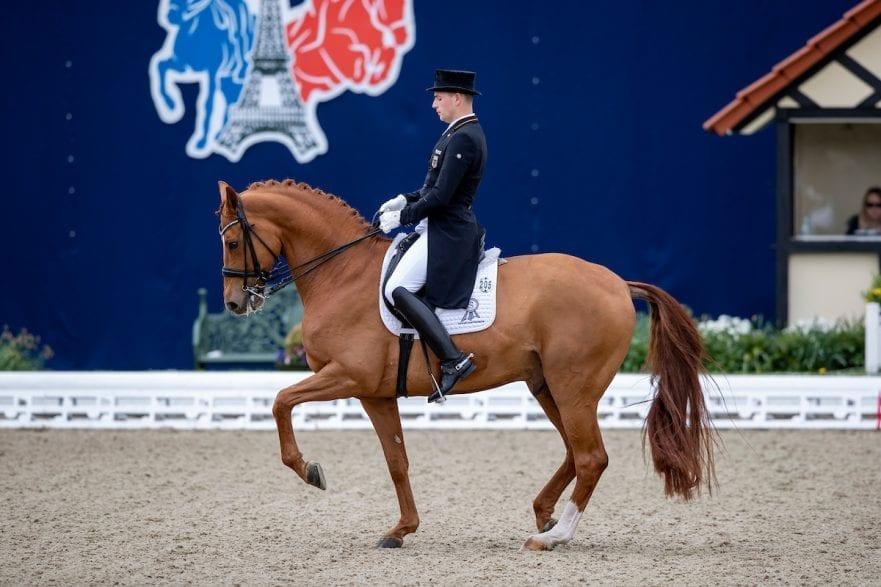 Frederic Wanders und Duke of Britain in Hagen - Horses and Dreams 2019 bei dem  Grand Prix de Dressage CDI4* – Preis vom Helenenhof der Familie Schwiebert (25. April 2019). Foto © www.sportfotos-lafrentz.de/Stefan Lafrentz