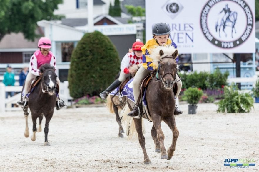 The WIHS Shetland Pony Steeplechase Championship Series, sponsored by Charles Owen, will return to the Devon Horse Show, May 26-27, 2019. (Photo by Jump Media)