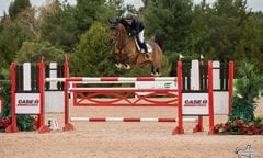 Canadian Olympian Beth Underhill riding Count Me In won the ,500 CSI2* Open Welcome, presented by RAM Equestrian, and the ,000 CSI2* Grand Prix, presented by CASE IH, at the CSI2* Caledon National. (Photo by Ben Radvanyi Photography)