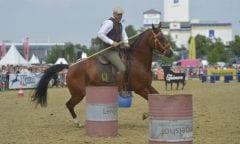 Gernot Weber startet auch auf der EQUITANA Open Air in einer Working Equitation Prüfung. (Quelle: EQUITANA)