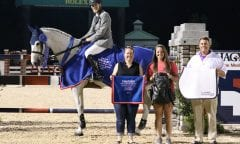 Karl Cook and Caillou 24 with representatives from Hagyard Equine Medical Institute