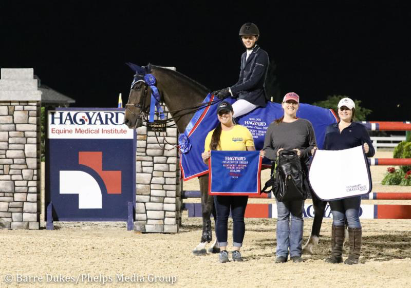 Brian Moggre and MTM Vivre le Reve with representatives from Hagyard Equine Medical Institute