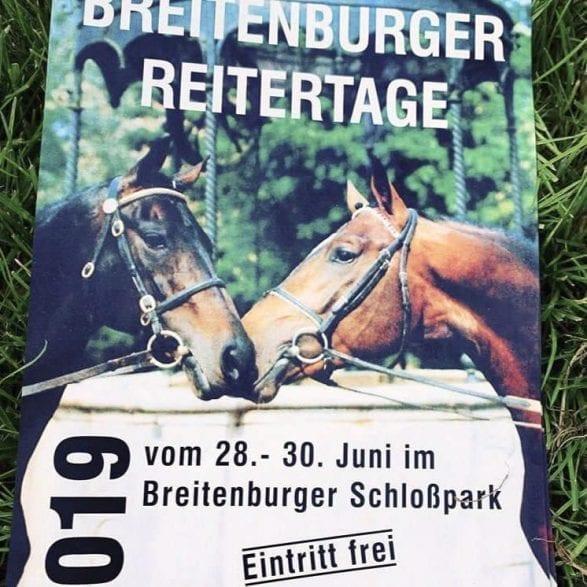 Das Plakat der Breitenburger Reitertage 2019