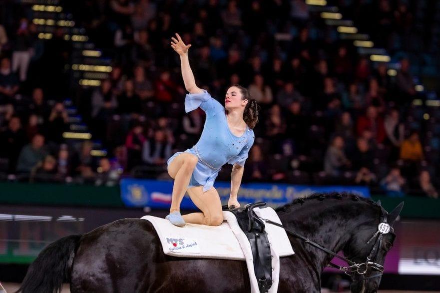 DERKS Janika (GER), Dark Beluga Leipzig - Partner Pferd 2019 FEI Vaulting World Cup Damen / Female 18. Januar 2019 © www.sportfotos-lafrentz.de/Stefan Lafrentz