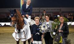 Celebrating the victory are Daniel Deusser and Callisto Blue Photo © Pierre Costabadie/Scoopdyga