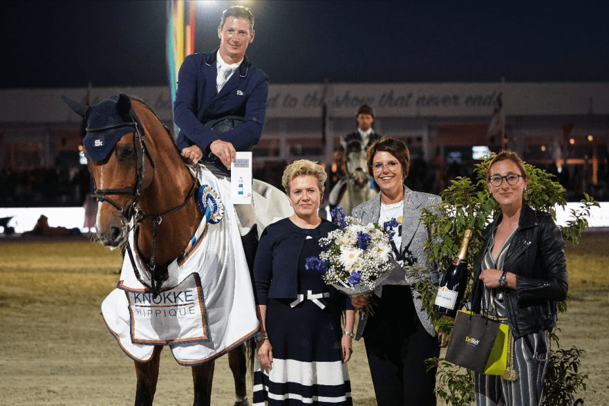 Celebrating the victory are Daniel Deusser and Callisto Blue Photo © Pierre Costabadie/Scoopdyga