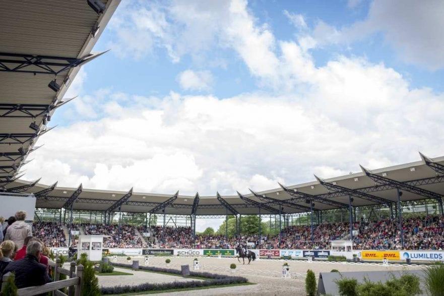 Das Deutsche Bank Stadion beim CHIO Aachen. Foto: CHIO Aachen/ Arnd Bronkhorst.