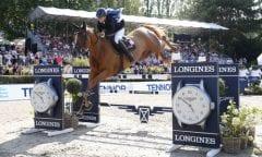 Dani G. Waldman (ISR) gewinnt mit Lizziemary Longines Global Champions Tour Grand Prix of Berlin presented by Tennor  Foto: Stefano Grasso / LGCT