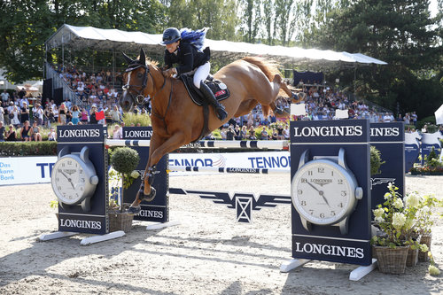 Dani G. Waldman (ISR) gewinnt mit Lizziemary Longines Global Champions Tour Grand Prix of Berlin presented by Tennor  Foto: Stefano Grasso / LGCT