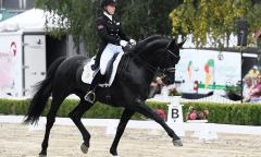 Lena Waldmann gewinnt mit Cadeau Noir in Neu-Anspach die Qualifikation für den Nürnberger Burg-Pokal (Foto: Maxiimilian Schreiner)