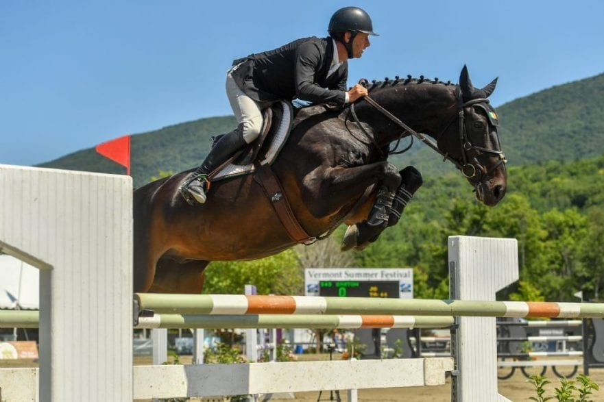 Kevin McCarthy swept the top two spots in the $10,000 Manchester Designer Outlets Welcome Stake, presented by Theory, on Thursday, August 1, at the Vermont Summer Festival, earning the win aboard Easton. Photo by Andrew Ryback Photography