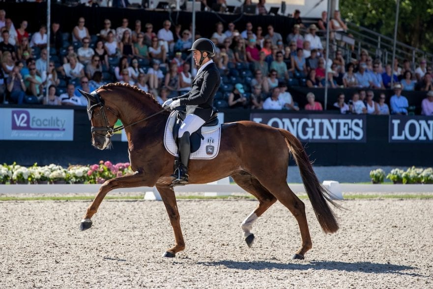 JURADO LOPEZ Severo (ESP), D'avie Ermelo - World Breeding Dressage Championsships for Young Horses 2018 Weltmeisterschaft Junge Dressurpferde Finale 6jährige Dressurpferde 05. August 2018 © www.sportfotos-lafrentz.de/Stefan Lafrentz