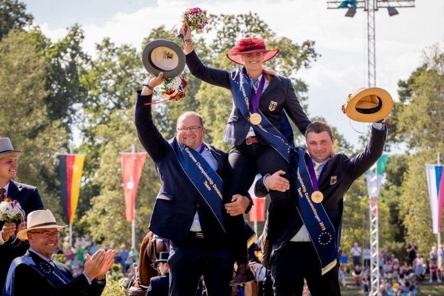 Die neuen Mannschafts-Europameister aus Deutschland: Georg von Stein (li.) und Michael Brauchle nahmen das