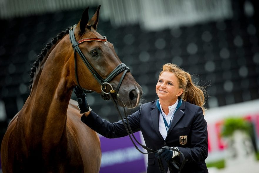 Schneider Dorothee, GER, Showtime Rotterdam - Europameisterschaft Dressur, Springen und Para-Dressur 2019 Horse Inspection for Dressage horses Vet-Check für Dressurpferde 18. August 2019 © www.sportfotos-lafrentz.de/Sharon Vandeput