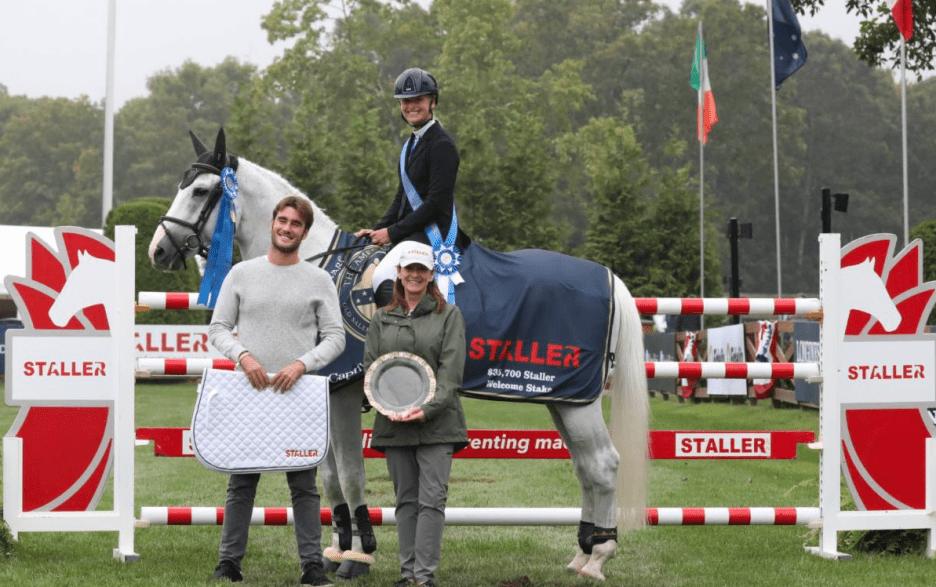 Kristen Vanderveen and Bull Run's Faustino de Tili with Pablo Jimenez, founder of Staller (Photo by: BarreDukes / Phelps Media Group)