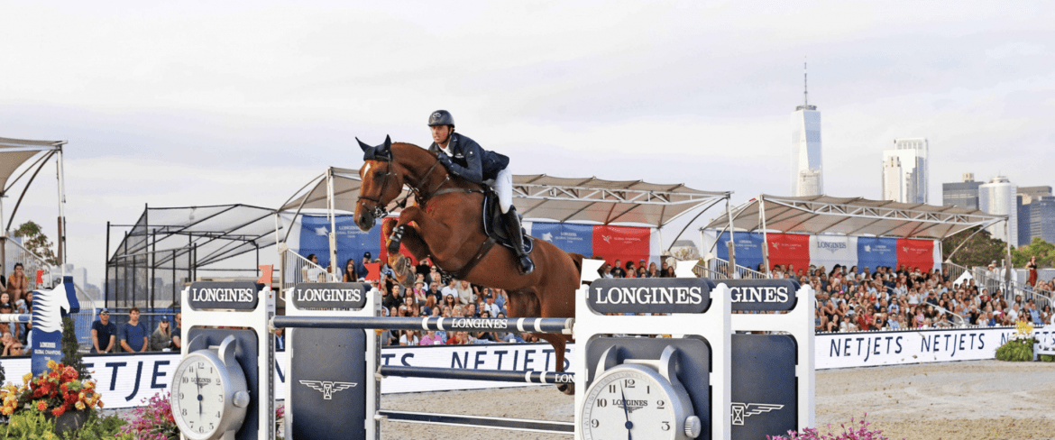 Ben Maher and Explosion W, winners of the Longines GCT Grand Prix of New York CSI5*. Photo by GCL/Stefano Grasso