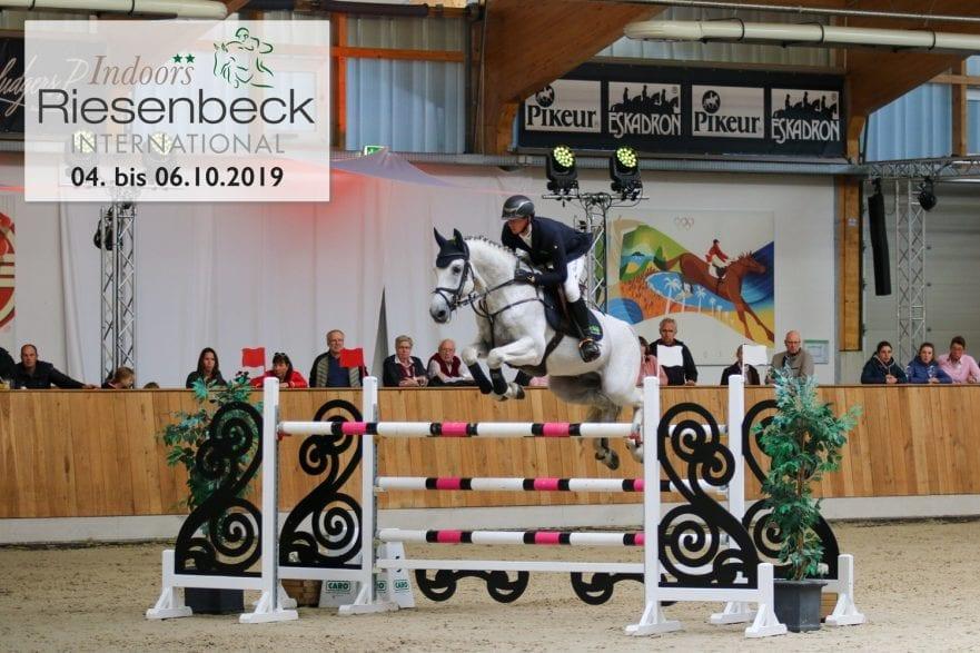 Der Deutsche Meister 2019 Felix Hassmann ist auch im diesem Jahr bei den Riesenbeck International Indoors** am Start.                                                                                        Foto: RI