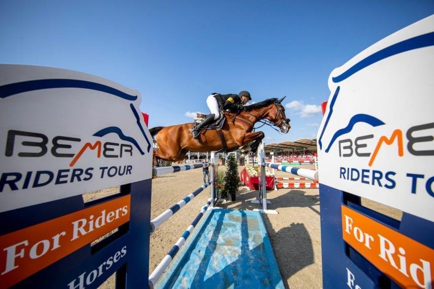 Nisse Lüneburg und Luca Toni gewannen in Münster die Qualifikation zur BEMER Riders Tour. Der Derbysieger ist auch bei der OWL Challenge in Paderborn dabei. (Foto: Stefan Lafrentz)