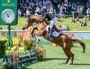 Eric Lamaze riding Chacco Kid won the 3,700 1.60m CANA Cup on Thursday, September 5, at the CSIO5* Spruce Meadows 'Masters' tournament in Calgary, AB.  Photo by Starting Gate Communications