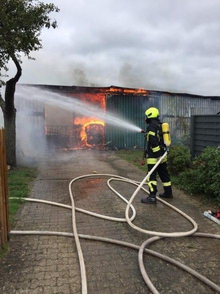 Brand einer Scheune in Schmidt