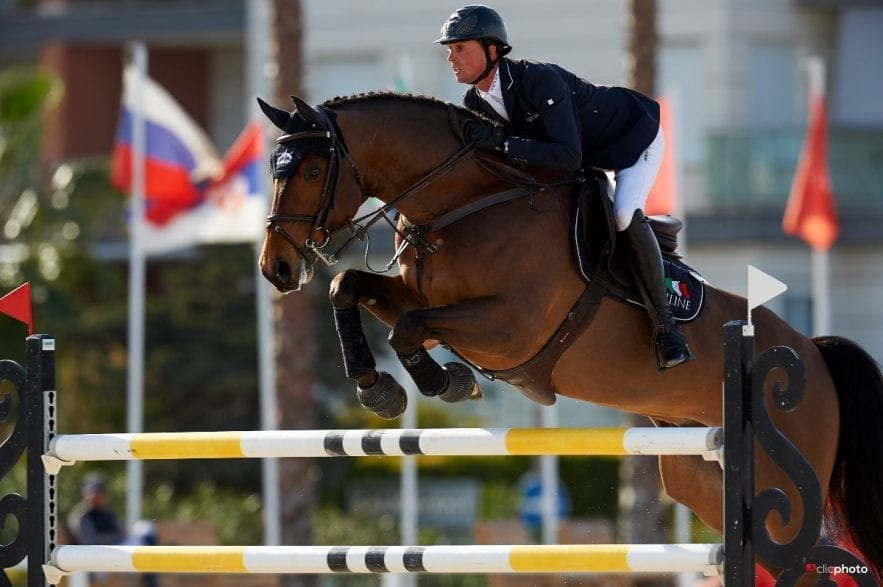 Ben Maher, individual silver and team bronze medallist from this year's European Championships in Rotterdam, returns to Oliva Nova for Autumn MET I. Photo © Hervé Bonnaud / www.1clicphoto.com.