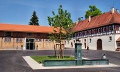 Der Gestütshof des Haupt- und Landgestüts Marbach ist einen Besuch wert (Foto: Kube)