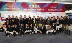 The international riders together with their Chinese teammates. Picture: Stefano Grasso