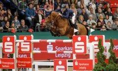 Der Longines FEI Jumping World Cup™ presented by Sparkasse gewinnt der Irländer Denis Lynch  Foto: Sportfotos-Lafrentz.de