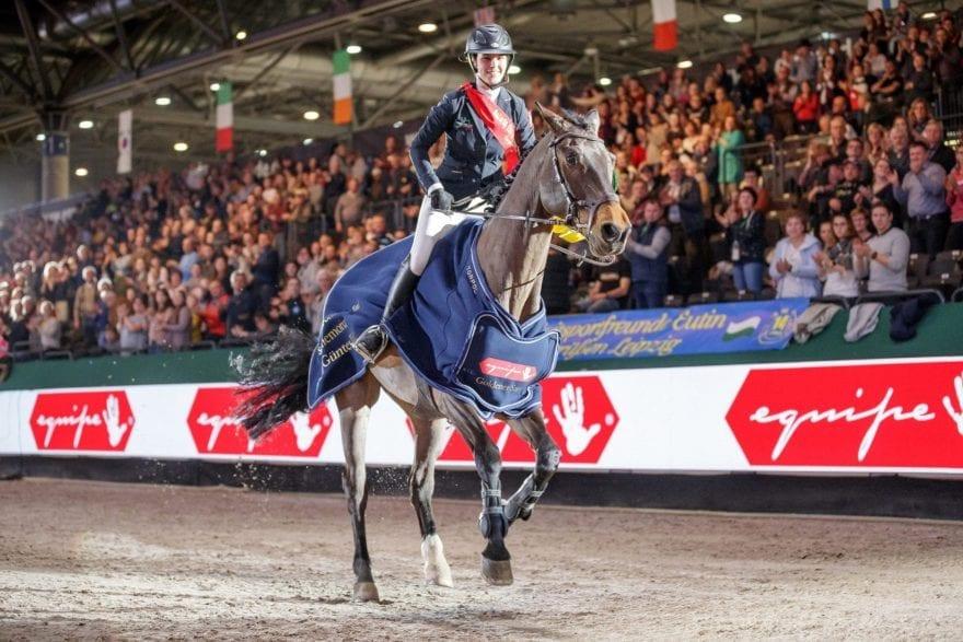 Natalia Stecher gewinnt in Leipzig den Selleria Equipe Goldener Sattel in memoriam Hans Günter Winkler  Foto: Sportfotos-Lafrentz.de