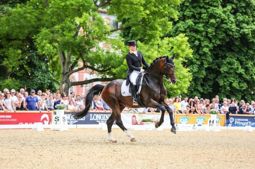 Wiesbadens Special-Rekordsiegerin: Isabell Werth. 2020 könnte sie schon am Pfingstsamstag ihren 14. Special-Sieg vor dem Biebricher Schloss feiern. Foto: Wolfgang Schwab
