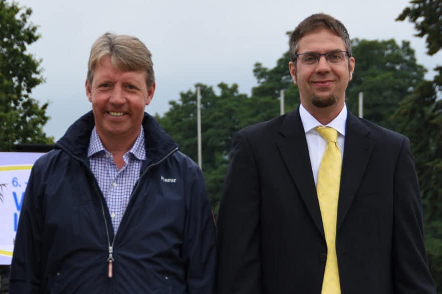 Neben Zuchtleiter Ulrich Hahne wird Markus Beerbaum (links) zur Hannoveraner Körkommission gehören. (Foto: Hannoveraner Verband)