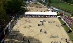 Der Turnierplatz von Bad Oeynhausen aus der Vogelperspektive. Foto: Reit- u. Voltigierverein Bad Oeynhausen