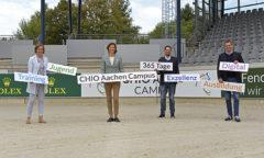 Birgit Rosenberg, Stefanie Peters, Stefan Knopp und Michael Mronz stellten den CHIO Aachen CAMPUS vor. Foto- Schupp